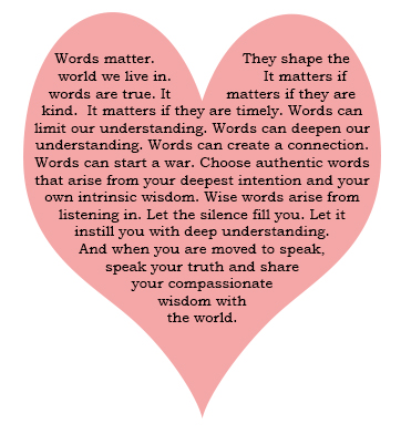 a heart of words